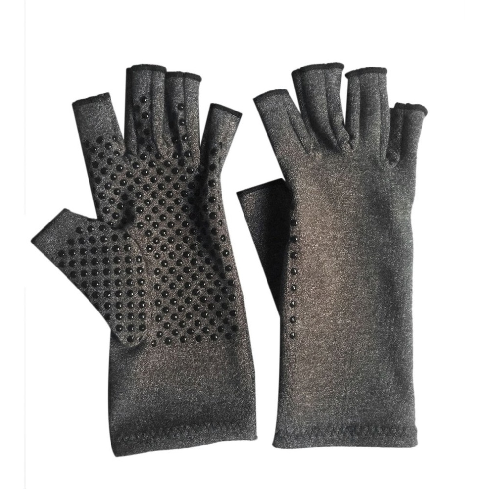 1 Pair Unisex Men Women Therapy Compression Gloves Arthritis Joint Pain Relief Health Care Half-finger Gloves Training Gloves