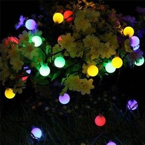 Image 3 - 10M 100 LED lampy słoneczne girlanda żarówkowa LED lampki Garland boże narodzenie lampy słoneczne na ślub dekoracja na przyjęcie ogrodowe na zewnątrz