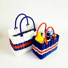 цены Woven shopping basket picking basket home bath shower basket portable basket