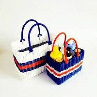 Woven shopping basket picking basket home bath shower basket portable basket