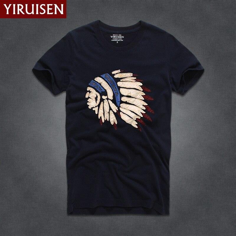 Мужские футболки, модные, YiRuiSen, брендовая мужская футболка с коротким рукавом, мужская повседневная футболка из хлопка, топы, Camisetas Hombre Camisa - Цвет: 6818