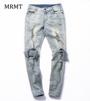 Men With Other Demin Destroy Jeans Knee Havoc Hole In Male Money Stretch Jeans