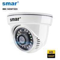 Smar FULL HD 1080 P Dome IP Camera HI3516C + SONY IMX 323 Với 18 CÁI Nano IR LEDS ONVIF Nhà An Ninh Chất Lượng Cao Vật Liệu Nhựa