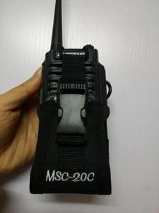 Image 2 - トランシーバーキャリーバッグMSC 20Cナイロンバッグホルダートランシーバーラジオbaofeng UV 9R 5s R760 9700トランシーバーアクセサリー