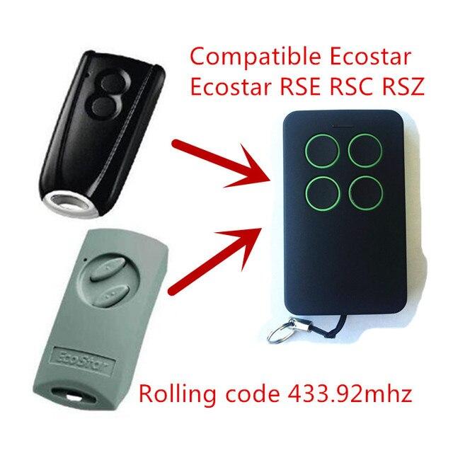 porte de garage t l commande compatible avec hormann ecostar rse2 handsender 433 mhz rolling. Black Bedroom Furniture Sets. Home Design Ideas