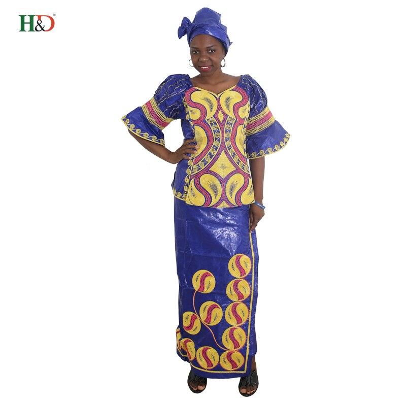 H & D Semua gaya afrika mengetuk pakaian sulaman tradisional untuk - Pakaian kebangsaan - Foto 4