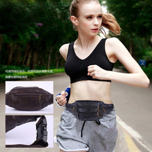 BISI GORO outdoor sports vintage unisex fanny pack Multi-function phone coin banana waist bag cow leather high quality chest