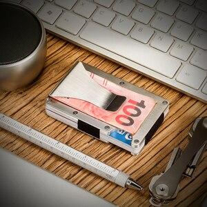 Image 3 - Porta cartão de crédito em alumínio, verão, fino, carteira masculina, proteção antirroubo rfid