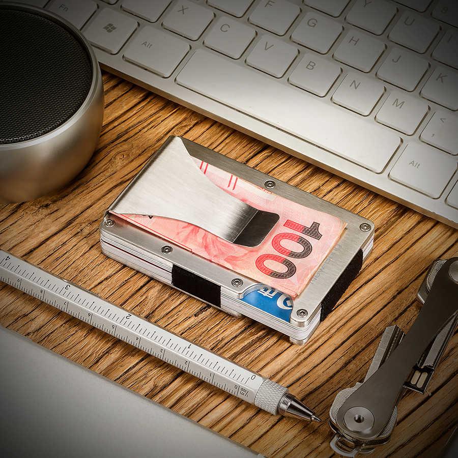 ฤดูร้อน Slim ผู้ถือบัตรเครดิตอลูมิเนียม ID Card ผู้ถือกระเป๋าสตางค์ RFID Anti-Theft ป้องกัน