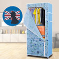 Oxford Cloth Steel Frame Small Wardrobe Closet Storage Hostel