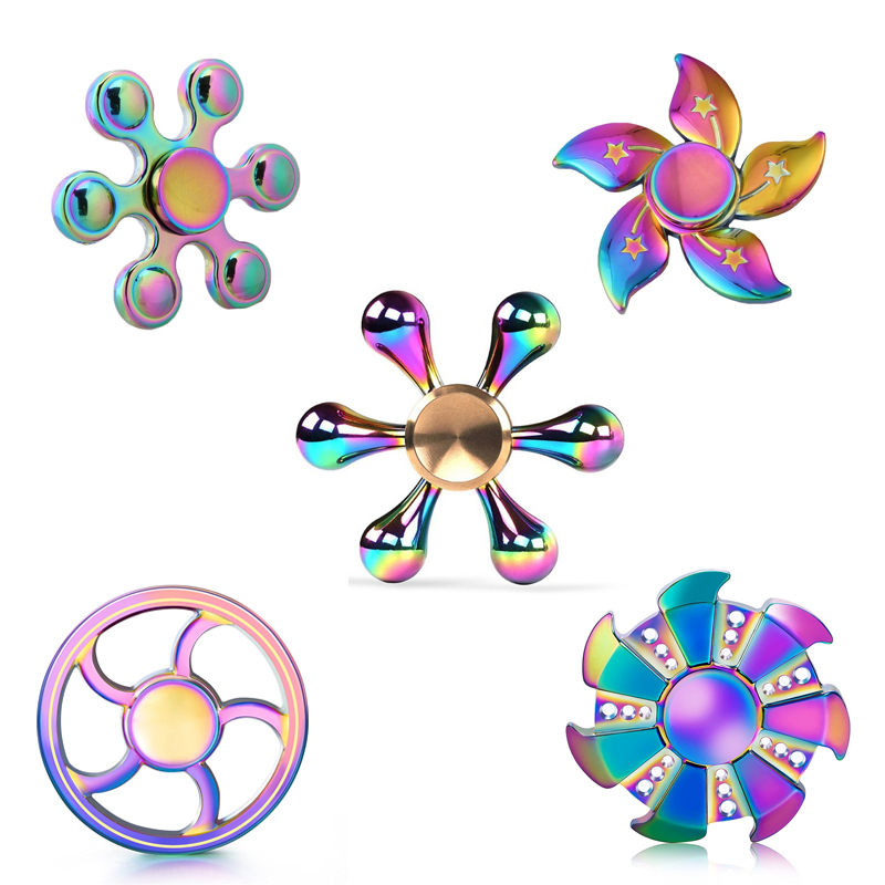 New colorful metal Fidget Spinner Triangle EDC Finger Hand Spinner For Autism/ADHD Anxiety Stress Relief Focus Toys many styles new luminous metal fidget spinner triangle gyro edc hand finger spinner for autism adhd anxiety stress relief focus toys gift
