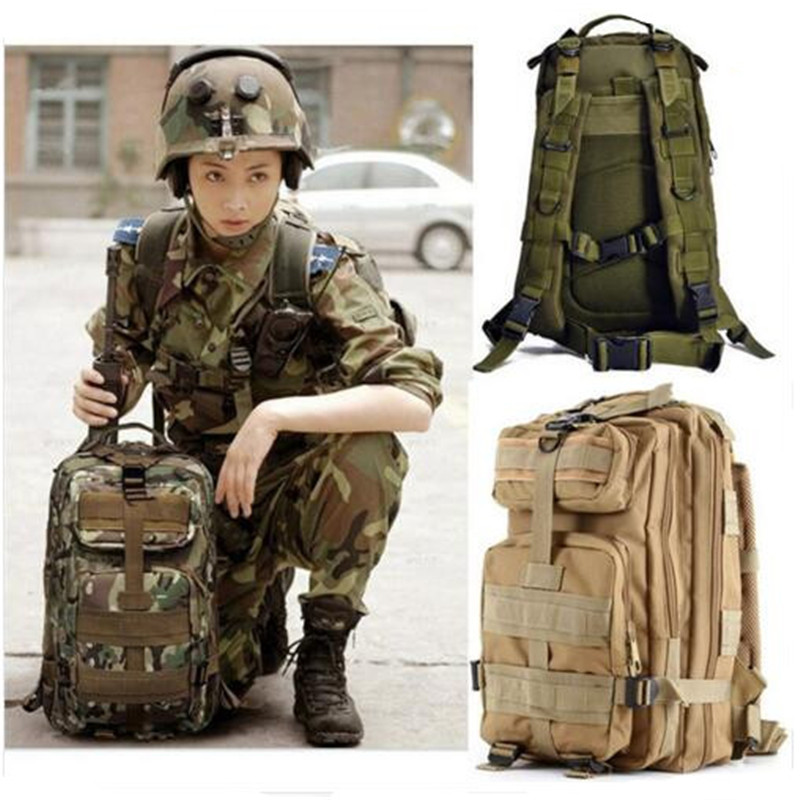 Fashion bag camouflage backpack army fan bag shoulders bag 3 p Nylon high grade Travel bag notebook Laptop Backpack edc bag tool army fan carabiner nylon webbing backpack buckle mini clip fashion