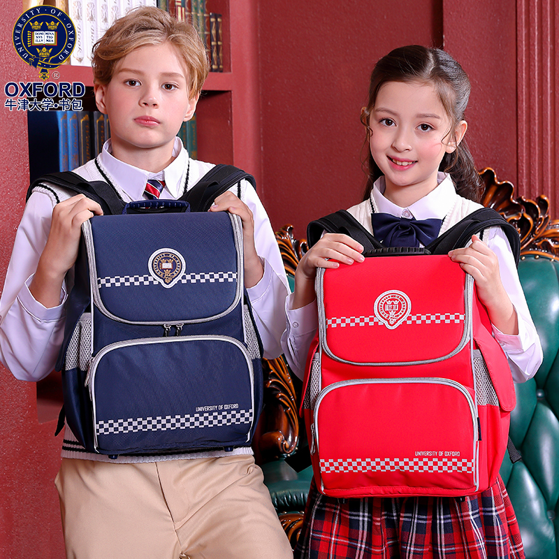2019 New University Of Oxford kids orthopedic school backpack bag for girls boys class 1 3-in School Bags from Luggage & Bags    1