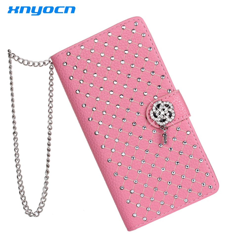 Luxury Bling Rhinestone Diamond Glitter Leather Flip Wallet Cover for Samsung Galaxy S6 S7 Stand Card