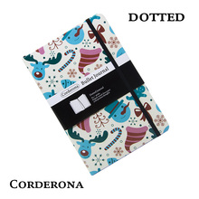 Dot Grid Hard Cover A5 PU Bullet Notebook Christmas Xmas Elastic Band Travel Dotted Journal Bujo