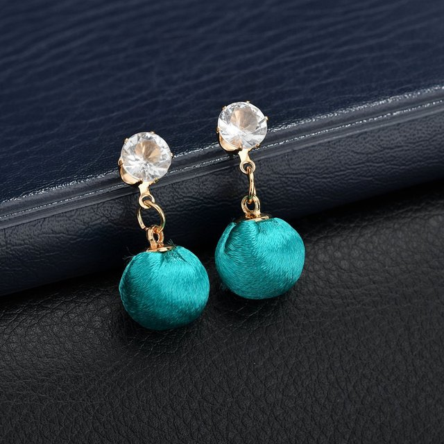 HOSEWYE Fashion CZ Statement Earrings 2018 Cloth Ball Geometric Earrings For Women Hanging Dangle Earrings Modern Jewelry 5