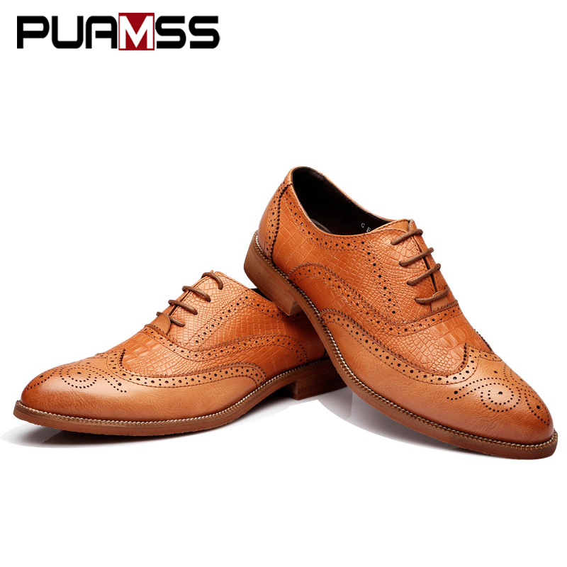 2018 New Men Shoes Handmade British Style Brogue Paty... SKU  32891930305.  -45%. Roll over image to zoom in. Click to open expanded view 8803d4b2354a