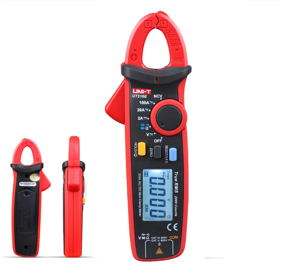 UNI-T UT210E True RMS Digital Multimeter AC/DC Current Mini Clamp Meters UT210E handheld Clamp Multimeters true rms digital multimeters uni t ut139a ac dc voltage and current auto range handheld multimeter