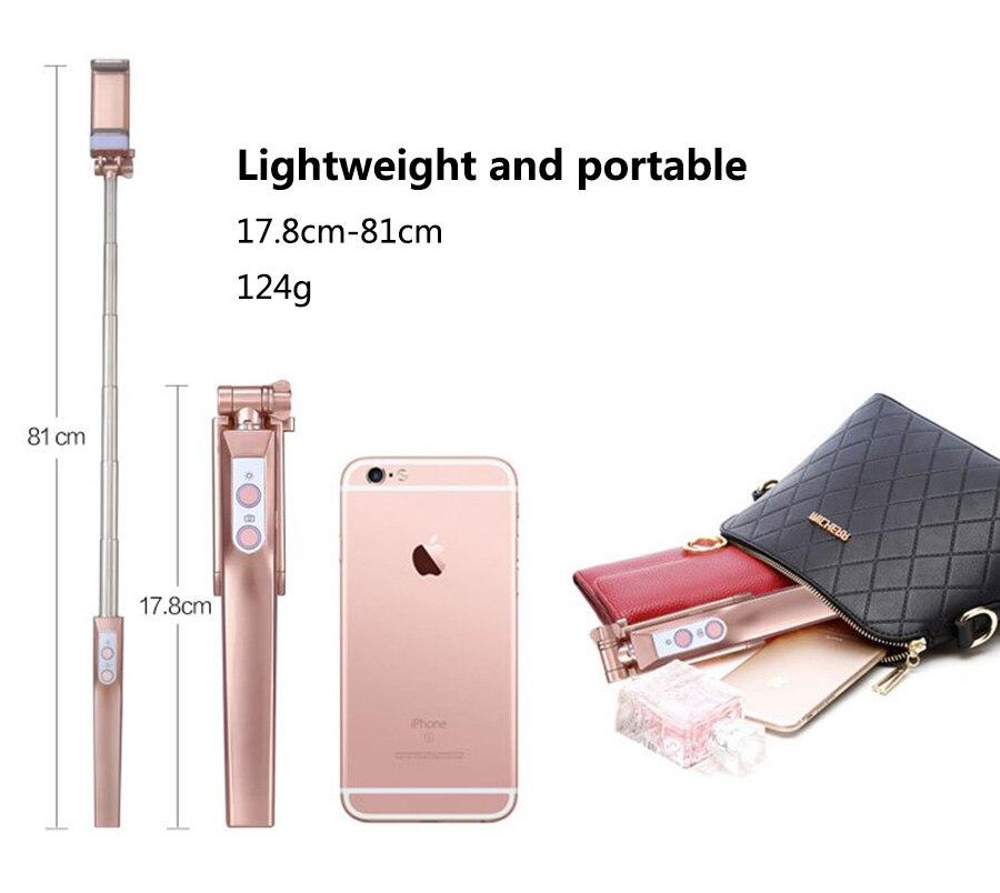 Mini Handheld Monopod ერთად LED შევსება - კამერა და ფოტო - ფოტო 5
