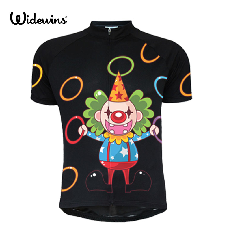 Clown acrobatics cycling jersey equipment/tour de pro cycling clothing/dry fit cool high visibility ropa ciclismo 5096