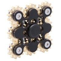 Nine 9 Gears Hand Spinner Made Metal Fantastic EDC Hand Spinner Torqbar Brass Fidget Spinner For