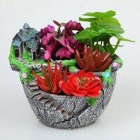 Creative micro landscape flower pot hanging garden design flower basket succulent bonsai garden flower pot WF622958