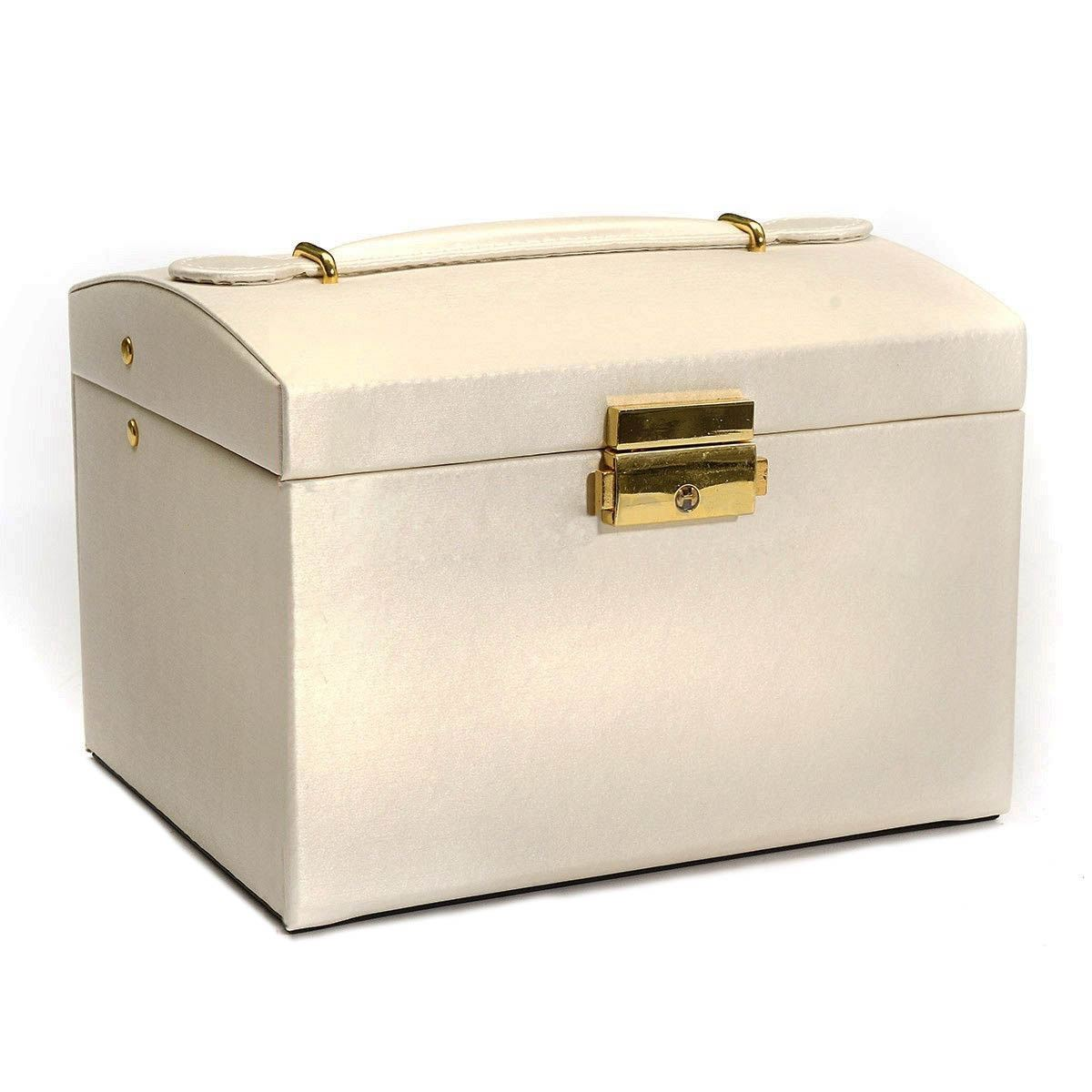 Large Jewelry Packaging Display Box Armoire Dressing Chest with Clasps Bracelet Ring Organiser Carrying Cases