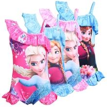 Летняя одежда для маленьких девочек; платье принцессы; детский купальник для девочек с рисунком Эльзы и Анны; детский пляжный купальник; бикини для девочек; комбинезон