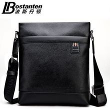 2017 BOSTANTEN 100% GENUINE LEATHER cowhide Shoulder leisure men's bag business messenger portable briefcase Laptop Casual Purse