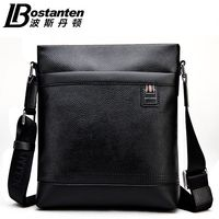 BOSTANTEN 100 GENUINE LEATHER Cowhide Shoulder Leisure Men S Bag Business Messenger Portable Briefcase Laptop Casual