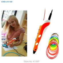 DEWANG 3D Printing Pen Printer Crafting Modeling Stereoscopic 20 Color 5M ABS Filament Arts Tool Printer Tool Free Shipping