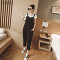 Rompers Womens Jumpsuits 2016 ZANZEA Casual Loose Overalls Elegant Double Pockets Strapless Playsuits Oversized Long Pants