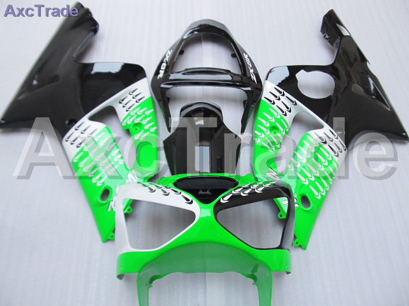 Green Black Moto Fairing Kit For Kawasaki Ninja ZX6R 636 ZX-6R 2003 2004 03 04 Fairings Custom Made Motorcycle Bodywork C369 black moto fairing kit for kawasaki ninja zx14r zx 14r zz r1400 zzr1400 2006 2007 2008 2009 2010 2011 fairings custom made c549