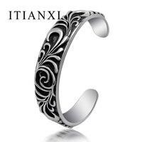 ITIANXI Fashion Noble Luxury Elegant Charm New Mode Men Bracelet Retro Gothic Iris Pattern Classic Cuff