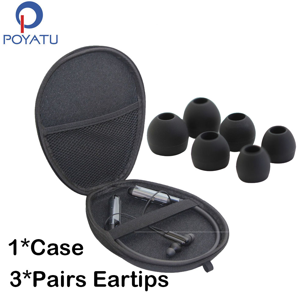 Poyatu Headphone Carrying Case Pouch For Samsung U Flex Bluetooth Wireless In Ear Flexible Headphone Earbuds Gel Earbud Tips Earphone Accessories Aliexpress