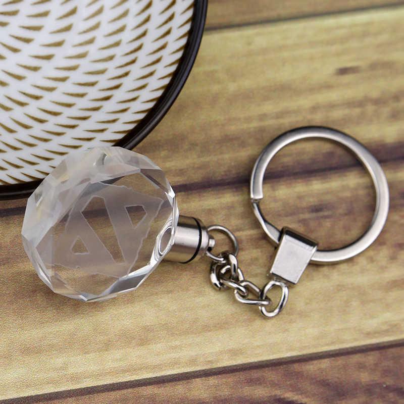 Oyun film Dota 2 LED anahtarlık Dota 2 karakter tüm yıldız anahtarlık halkası kutusu hayranları için hediye kristal parlayan anahtarlık