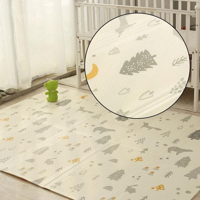 200 CM * 180 CM * 1 CM alfombra de juego portátil para bebé plegable XPE almohadilla de gateo para el hogar plegable al aire libre a prueba de agua juego de Puzzle Mat