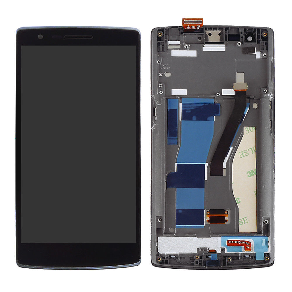 10pcs/lot For Oneplus 1 LCD Display Touch Screen with Frame 100% FHD Digitizer Assembly For One plus one