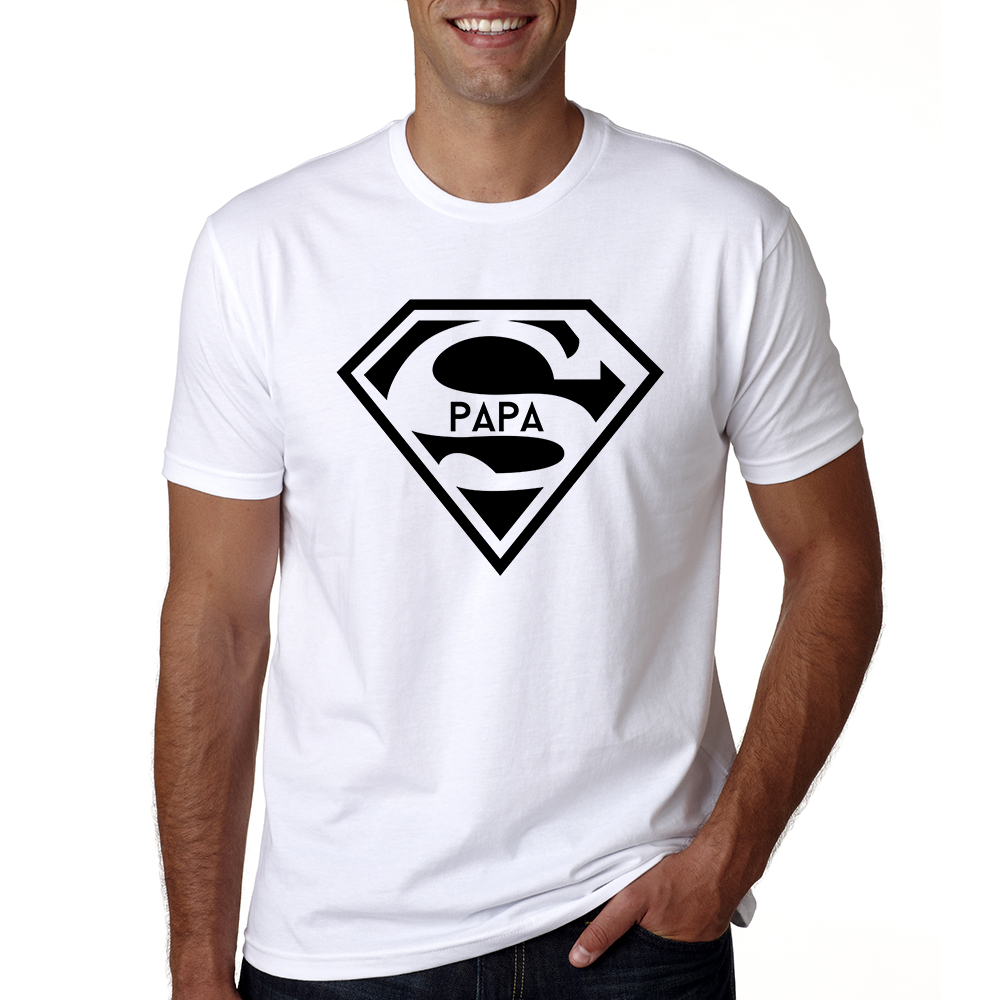 2018 Super Papa   T  -  shirt   Fathers Day Gift New Dads Funny   T     Shirt   Best Dad Tshirt Men Summer Casual Hipster Slogan Tee   Shirt   Homme