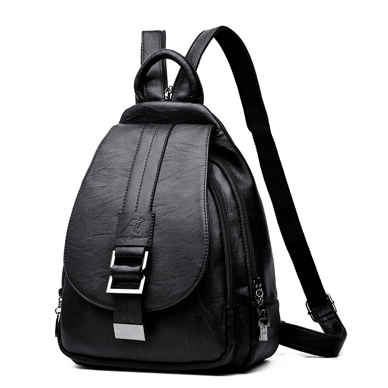 HTB1ctWZRAvoK1RjSZFwq6AiCFXaG Women Backpack Multi-Function Female Backpack Casual School Bag For Teenager Girls High Quality Leather Shoulder Bag For Lady
