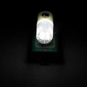 Image 2 - 비상 조명 벽 램프 홈 조명 LED 야간 조명 EU 플러그 침대 옆 램프 벽 마운트 에너지 효율적인 4 LED 3W