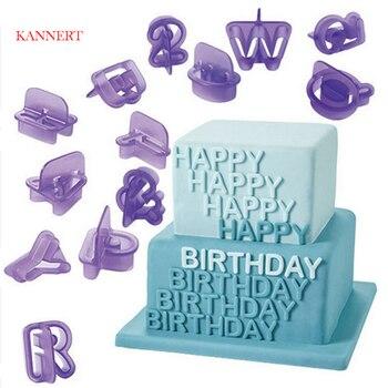 40Pcs Alphabet Number Letter DIY Character Fondant Cake Decorating Set Icing Cutter Mold Moulds Baking Tools New