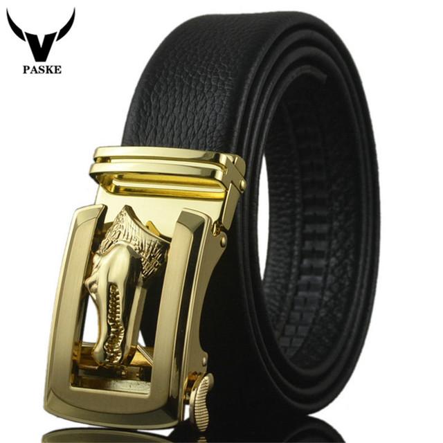 2016 Nueva Calidad de Lujo Cinturones Para Hombre Correa de Cuero de Vaca Diseñador de la Marca Para Los Hombres Cinturones de Cocodrilo Hebilla Ceinture Homme W225