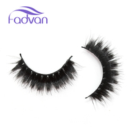 5 Pairs Human Hair False Eyelashes Cotton Eyelash Extension Stalk Long Thick False Eyelashes Makeup Black