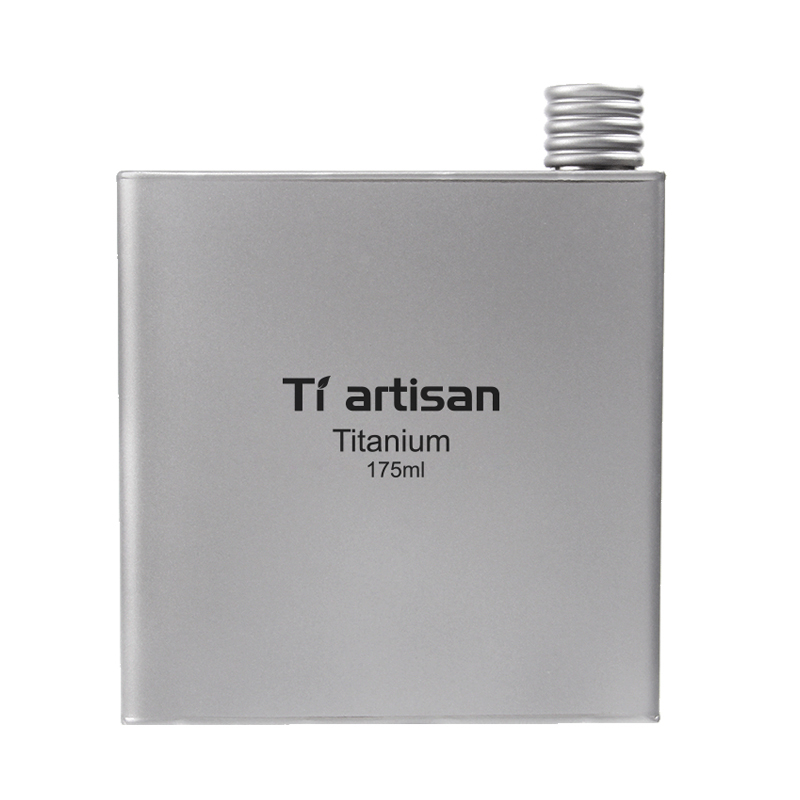 Tiartisan 175ml Titanium Hip Liquor Alcohol Flask Outdoor Camping Water Bottle for Whiskey Pocket Wine Bottle with Bag Ta8602