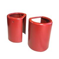 Gemakkelijk vervangbare Rode Rvs Cover voor Smart keyless Digitale Cilinder Deurklink Slot-in Toegangscontrole accessoires van Veiligheid en bescherming op
