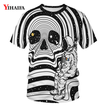 2019 New Mens Womens 3D T-shirt Galaxy Whirlpool Astronaut  Skull Print Graphic Tee Creative T Shirts Casual Tees Unisex Tops