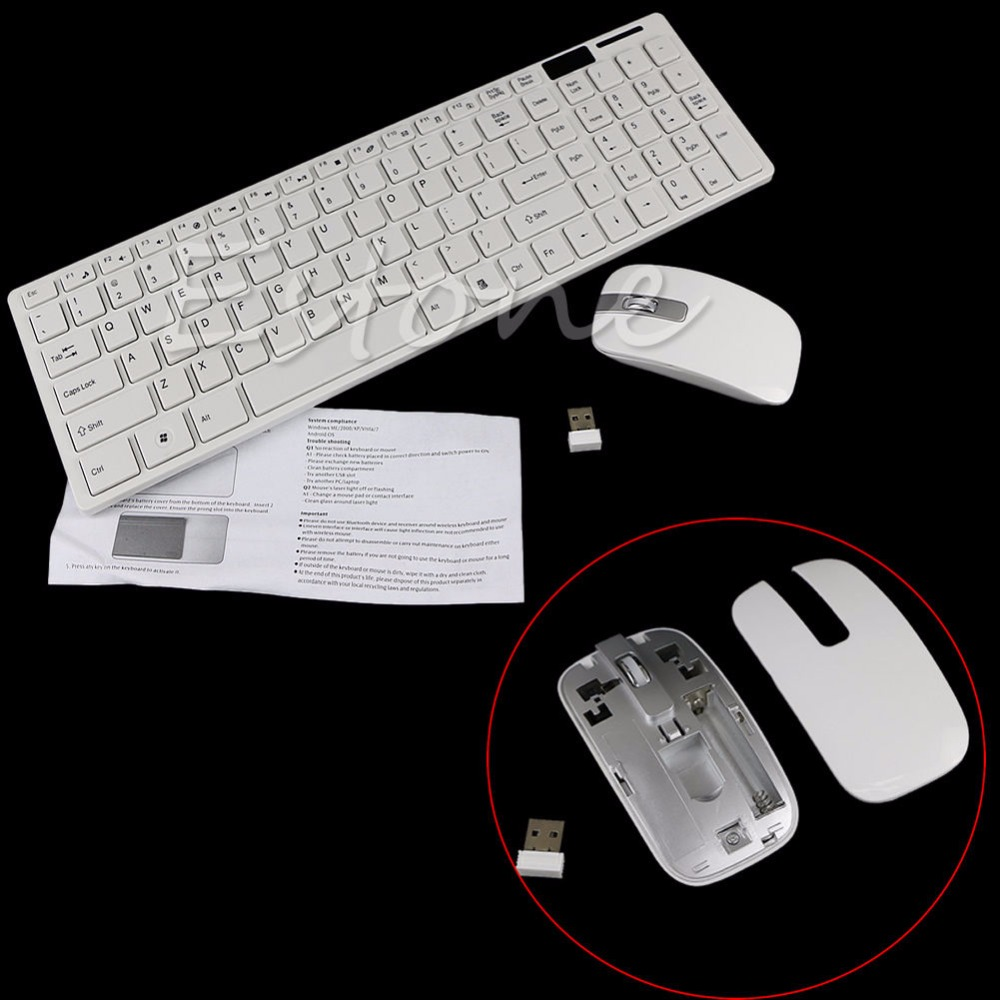 Mini 2.4G DPI Wireless Keyboard and Optical Mouse Combo for Desktop PC C2