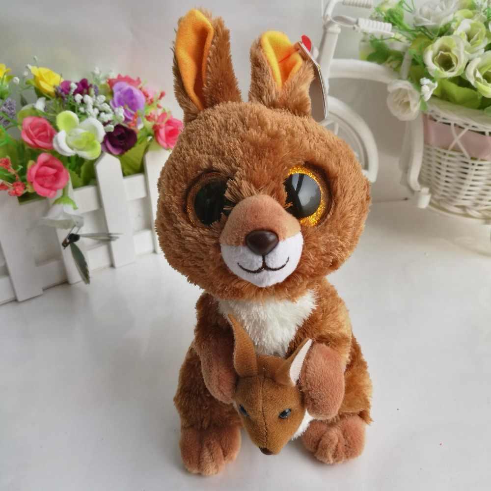 e05388b93dd KIPPER - brown kangaroo TY BEANIE BOOS 1 piece 15cm 6