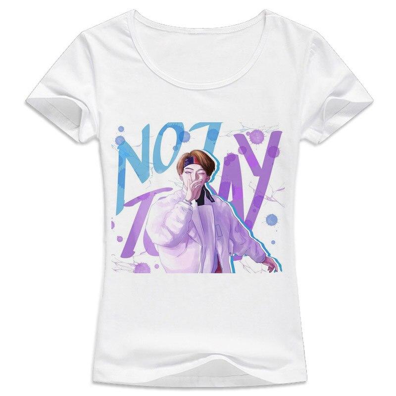 BTS KPOP t shirt K pop BTS Bangtan Boys WINGS SUGA V JUNG KOOK JIMIN Album Print t-Shirts k-pop not today Shirt